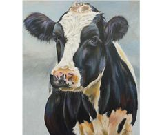 Cow Paintings On Canvas, Animal Paintings, Canvas Art, Cow Face Paints, Deer Skull Art, Cow Facts, Cow Photos, Farm Pictures, Sunflower Drawing