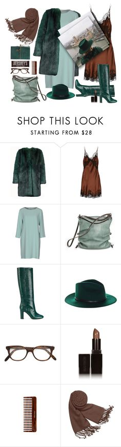 """London calling (I live by the river)"" by ms-wednesday-addams ❤ liked on Polyvore featuring Dries Van Noten, Carine Gilson, Moschino Cheap & Chic, Ina Kent, Aquazzura, HTC, Cutler and Gross, Laura Mercier, Hershey's and (MALIN+GOETZ)"