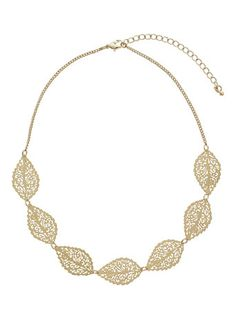 Cutout-Halskette in Blattform