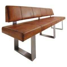 vintage leder eckbank mit rustikalem balkeneiche esstisch und leder stahl freischwingern jetzt. Black Bedroom Furniture Sets. Home Design Ideas