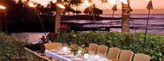 Hawaii Dining Brown's Beach House Restaurant. At the fairmont orchid.