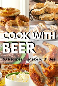 30 Recipes to Make with Beer from Taste of Home | Perfect for tailgating, game-day parties, backyard barbecues and more, these recipes using beer as an ingredient—like beer dip and beer can chicken—are sure to be crowd-pleasers.