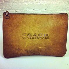 Men's Coach Leatherware Zip Envelope circa 1950's-1960's #ThrowbackThursday #tbt