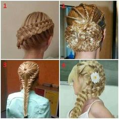 DIFFERENT BRAIDED HAIR STYLES