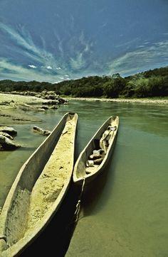 Pirogues Usumacinta River Chiapas Mexico, a photograph by David Ryan on Etsy