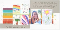 How to incorporate children's artwork into scrapbooking CTMH