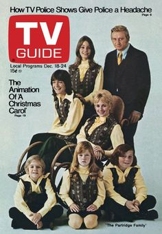 TV Guide December 18, 1971 - David Cassidy, Susan Dey, Dave Madden, Shirley Jones, Brian Forster, Suzanne Clough and Danny Bonaduce of The Partridge Family