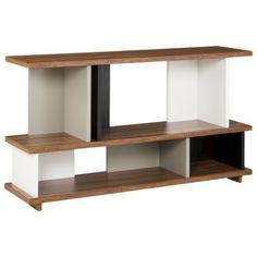 TOO by Blu Dot Stories 2 Shelf Bookcase - White/Black/Walnut