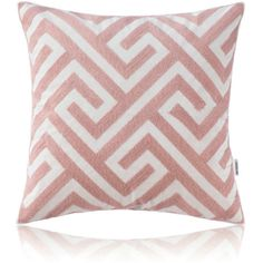 Nordic Modern Stereo Embroidery Maze Pattern Pattern Pink Pillow S... ($28) ❤ liked on Polyvore featuring home, home decor, throw pillows, cotton/linen pillows, home textiles, throws & pillows, patterned throw pillows, pink toss pillows, pink accent pillows and embroidered throw pillows