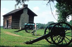 The Brotherton Cabin at Chickamauga Battlefield site in Georgia
