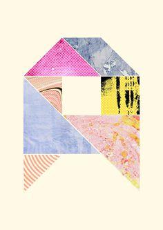Collaged Tangram Alphabet - A iPhone Case by cardboardcities - iPhone 11 - Tough Case Alphabet Quilt, Alphabet Book, Design Art, Graphic Design, Typography, Lettering, Mark Making, Retro Art, Geometric Art