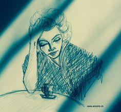 llustration de Anne HB, ©www. Reproduction, Images, Illustration, Art, Drawing Drawing, Art Background, Kunst, Illustrations, Performing Arts
