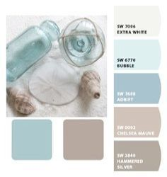 coastal colors @ Home Design Ideas. Love the color palette Coastal Colors, Coastal Style, Coastal Living, Coastal Decor, Coastal Curtains, Coastal Cottage, Coastal Entryway, Coastal Color Palettes, Coastal Farmhouse