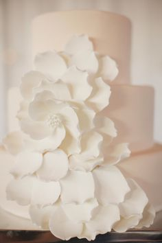 Beautiful wedding cake: http://www.stylemepretty.com/2013/08/09/sonoma-wedding-from-nancy-liu-chin-designs/ | Photography: Stephanie Williams - http://stephaniewilliamsphotography.com/