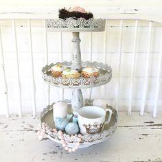 Three Tier Tray Decorative Stand - Hallstrom Home - 1
