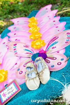 Fairy Themed Sisters Birthday Party: The fairy wings