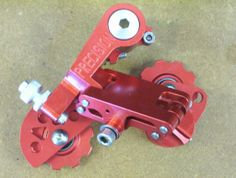 """One of my favourite rear dérailleurs, the Precision Billet """"Gorilla"""", in red."""