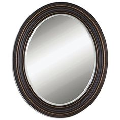 Buy the Uttermost 14610 Dark Oil Rubbed Bronze with Gold Highlights Direct. Shop for the Uttermost 14610 Dark Oil Rubbed Bronze with Gold Highlights Ovesca Oval Weathered Metal Oval Mirror and save. Bronze Mirror, Round Wall Mirror, Wall Mounted Mirror, Beveled Mirror, Mirror Mirror, Vanity Mirrors, Floor Mirrors, Mirror Collage, Magic Mirror