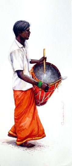 By siva balan indian drawing, india art, painting people, indian paintings, african Indian Drawing, Architecture Drawing Sketchbooks, Indian Art Paintings, India Art, Painting People, African Art, Figure Drawing, Art World, Cute Art