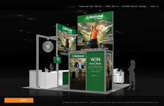 National Car Rental - 20x20 Trade Show Display Rental- Check EXHIBITMAX Custom Exhibits, if your needs require a custom designed and built trade show booth