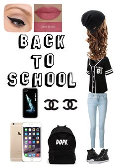 """""""Back to school"""" by briruiz ❤ liked on Polyvore featuring LE3NO, Frame Denim, Converse, Coal, NIKE, LORAC and She's So"""