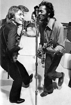 """imcreepingdeath99: """"John Lennon with Chuck Berry """""""