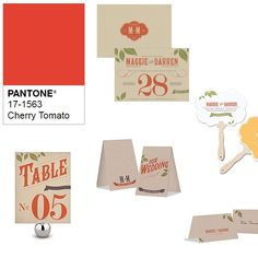 Pantone's Cherry Tomato is thought to be an ideal wedding color for the giving, expressive communicator.  Evoking feelings of warmth and passion, it's so easy to see why.  Although comfortable within any season's color palette, I would love to see this hue as part of a fall wedding celebration. Red Wedding, Fall Wedding, Wedding Colors, Color Stories, Season Colors, Cherry Tomatoes, Celebrity Weddings, Color Trends, Pantone
