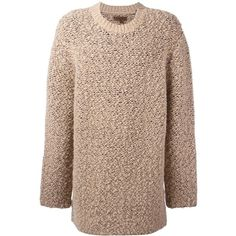 Yeezy Season 3 oversized teddy boucle sweater ($1,202) ❤ liked on Polyvore featuring tops, sweaters, yeezy, brown tops, over sized sweaters, oversize sweater, unisex sweaters and boucle sweater