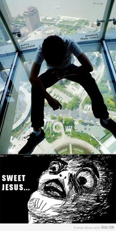 I'm not scared of heights but holy crap