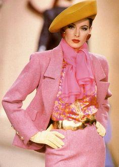 Ludmila Isaeva Malahova, Yves Saint Laurent F/W 1991 Haute Couture #millinery…