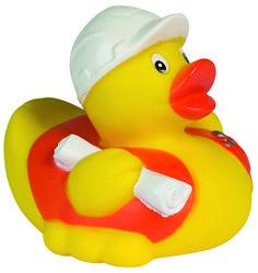 Quietsche-Ente Bauarbeiter