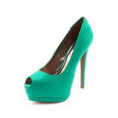 Sueded Keyhole Platform Pump at Charlotte Russe