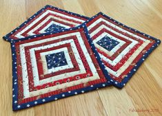 Fabadashery: 4th July Independence Day Patriotic Mug Rug