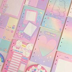 Bullet Journal Inspo, Ring Binder, Rainbows, Bujo, Journals, Pastel, Kawaii, Packing, Mood