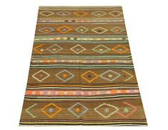 Handmade Kilim rug 7,3x4,1 feet Area rug Old rug Nomadic Cicim Rug Bohemian kilim rug Floor Kilim Rug Turkish Rugs Living Room Decor. Turkish hand woven vintage unique kilim rug 7,3x4,1 feet / 87x50 inches / 222x128 Cm Origin: Turkey-Balıkkesir Material: wool on wool They made from wool on wool or wool on cotton. They are unique and natural dye. These kilim rugs are old and used, we restored items (Every items checked for have damage,hole or wear Then we washed natural shampoo and make...