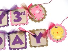 Cute Girl Farm Animal Party Theme Happy by ScrapsToRemember, $30.00
