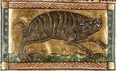 """""""The boar is so fierce a beast, and also so cruel, that for his fierceness and his cruelness, he despiseth and setteth nought by death, and he reseth full piteously against the point of a spear of the hunter. And though it be so that he be smitten or sticked with a spear through the body, yet for the greater ire and cruelness in heart that he hath, he reseth on his enemy..."""""""