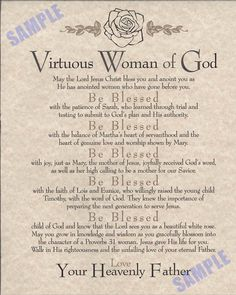 the virtious woman - Bing Images