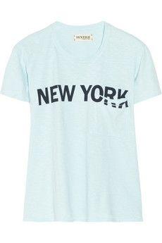Elizabeth and James Bowery printed slub cotton-jersey T-shirt |