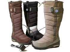 Heated boots... Warm Boots, Winter Fashion, Comfy, How To Wear, Shoes, Canada, Winter Fashion Looks, Zapatos, Shoes Outlet