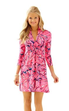 Alexandra Empire Waist Dress - Lilly Pulitzer Bright Navy Flirty Navy