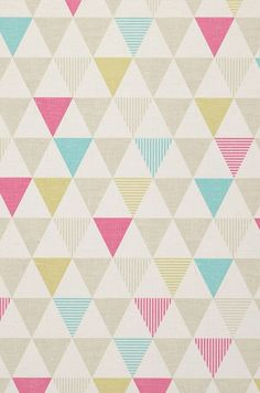 The countless little triangular shapes in grey beige, shimmering yellow-green, magenta and turquoise turn any room into an oasis of well-being with. Pattern Wallpaper, Wallpaper Backgrounds, Iphone Wallpaper, Paper Scrapbook, Papier Paint, Grey And Beige, Surface Pattern, Retro, Background Patterns