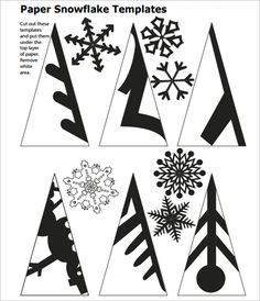 snowflake template to cut out …