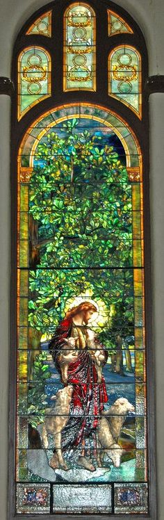 https://flic.kr/p/h5YEd | Tiffany Stained Glass 1 | Tiffany stained glass window in St Luke's United Methodist Church in Dubuque, Iowa. The church has 95 stained glass windows and panels; of these, 94 are by Tiffany. It's truly a treasure chest of stained glass.
