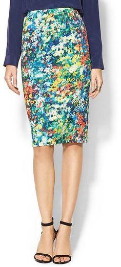 Wells Grace Vibrant Print Pencil Skirt on shopstyle.com.au