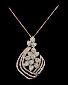 Latest Jewelry Collection of Stunning & Dazzling Pendants at Diamond District Block. Diamond Pendant Necklace, Diamond Jewelry, Pendant Design, Latest Jewellery, Luxury Jewelry, Jewelry Collection, Jewelry Design, Dimonds, Pendants