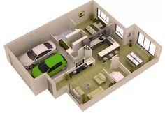 Gambar Denah Rumah Minimalis 3D Terbaru