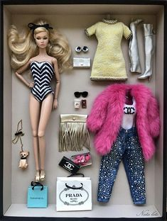 Vintage Diy Clothes Friends 61 Ideas For 2019 Barbie Girl, Barbie Sets, Barbie Dolls Diy, Barbie Fashionista Dolls, Doll Clothes Barbie, Barbie Doll House, Barbie Box, Barbie Style, Barbie Outfits