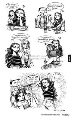 Problemy dziewczyn na rysunkach Cassandry Calin