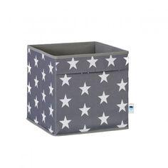 STORE !T Aufbewahrungsbox mit 2 Griffen Sterne grau